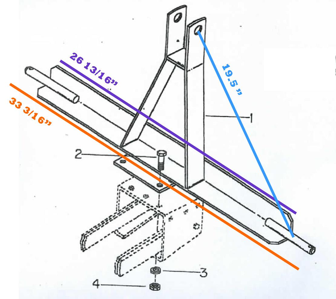 Cole 12MX 3 Pt. Hitch Dimensions