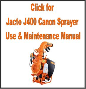 Jacto J400 Canon Sprayer Manual