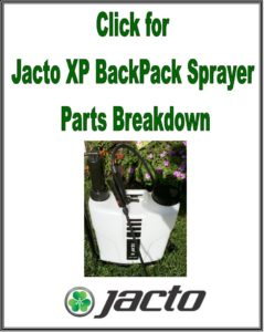 Jacto XP312 XP416 BackPack Sprayer Parts Breakdown