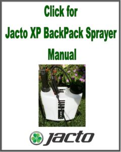 Jacto XP312 XP416 Backpack Sprayer Manual