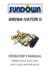 Sundown Arena-Vator Manual Pic