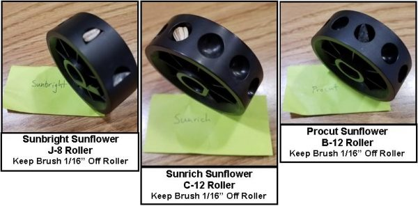 Sunflower Seed Rollers Examples with the JP Jang Seeders