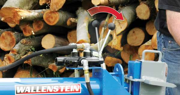Wallenstein WX Log Splitter Hands Free Auto Neutral Return