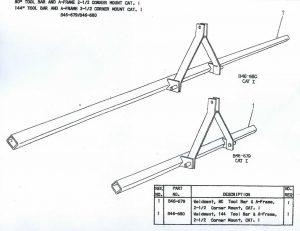 Cole Toolbars - B46-679 and B46-680