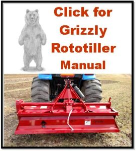 Click for Grizzly Rototiller Manual