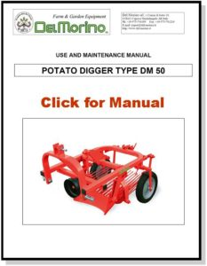 DM50 Delmorino Potato Digger Manual