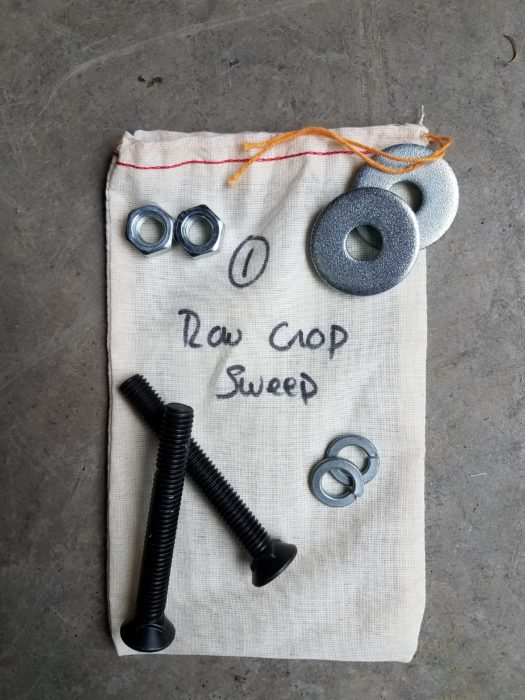 Row Crop Sweep Hardware