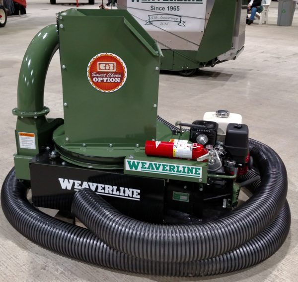 Model KB1355 Weaverline Bale Chopper-Blower 13HP Honda Landscape Mulcher & Stationary Gooseneck - With Hose - Hose Can Be Ordered at Check Out