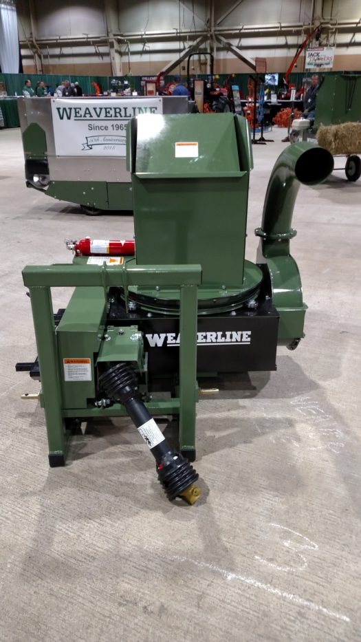Model KB1390 Weaverline Bale Chopper-Blower PTO Landscape Mulcher & Stationary Gooseneck - No Hose- Can Be Ordered at Check Out