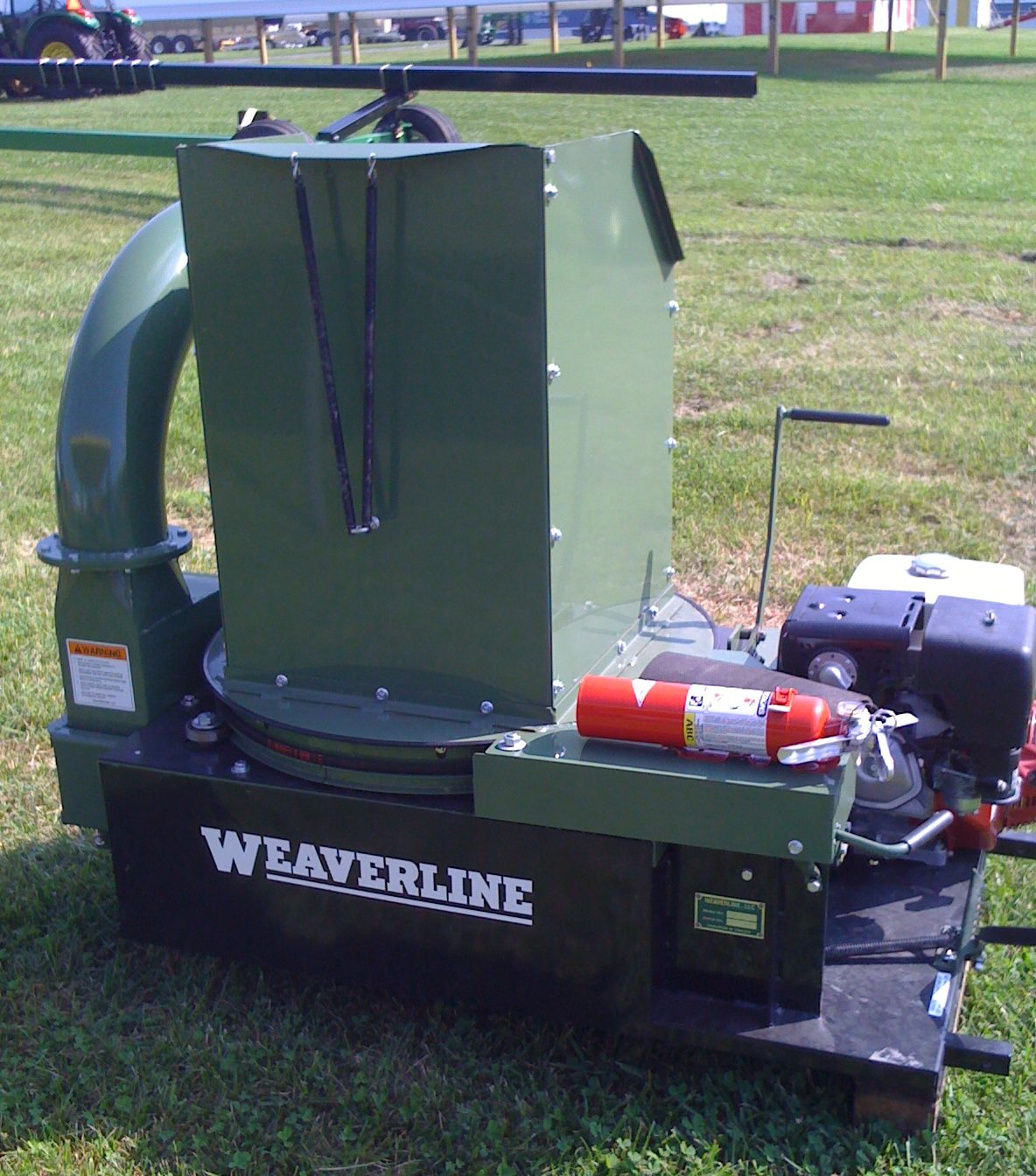 Model KB1355 Weaverline Bale Chopper-Blower 13HP Honda Landscape Mulcher & Stationary Gooseneck for 6