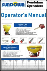 Soundown Spreader Owner's Manual