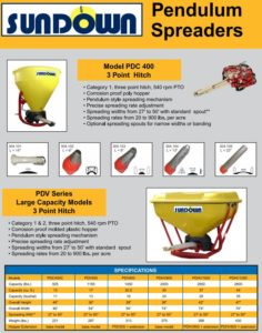 Sundown Pendulum Spreader Brochure