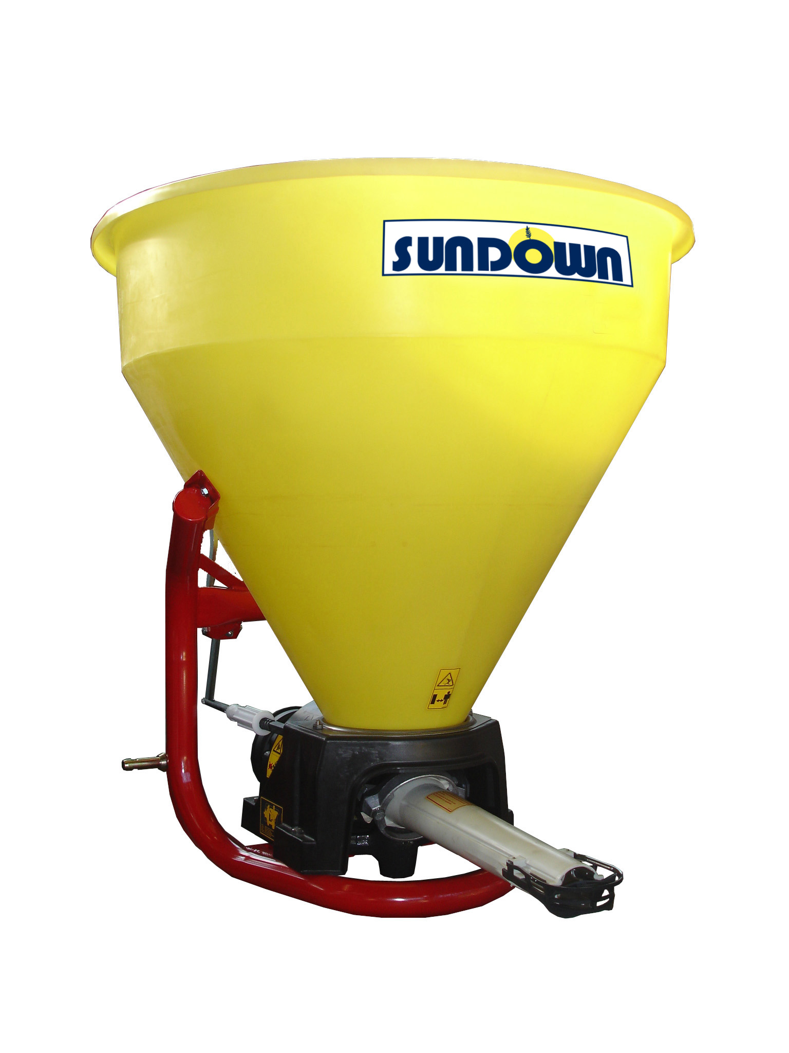 PDC400C Economy Pendulum Spreader Sundown 3 Pt. Hitch Model w/PVC Hopper & PTO