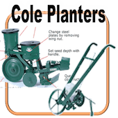 Cole 12MX and Cole Planet Jr. Planters
