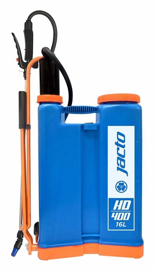 Jacto Blue HD400, 4 Gallon No Leak Backpack Sprayer with Heavy Duty Pump, For Lawns and Gardens