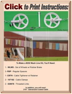 Clothesline Pulley Click to Print Directions