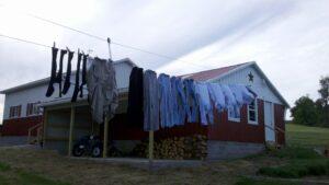 Amish Clothesline Pulley System Setup