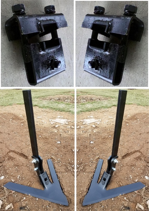 Tire Eraser Set w/ Clamps - A Removal Tool to Eliminate Compressed Tire Tracks