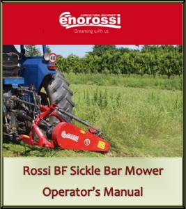 Rossi BF Sickle Bar Mower Operator's Manual