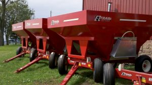 EZ Trail 230 Bushel Gravity Wagon w/ EZ Trail 872W 8 Ton Gear w/11L x 15 Tires