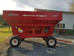 EZ Trail 300 Bushel 8-1/2' x 12-1/2' Gravity Box on 1074 10 Ton Gear